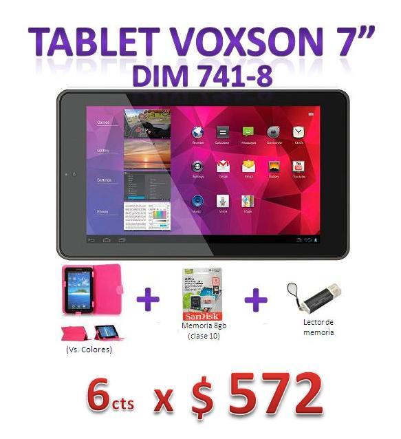 Tablet Voxson 7 Dim741-8+estuche+t.memoria+lector
