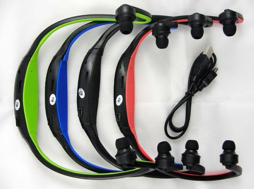 Auriculares C/ Lector Radio F.m. Sport Mp3